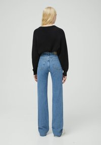 PULL&BEAR - HIGH WAIST - Straight leg jeans - blue - 2
