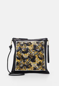 Versace Jeans Couture - SHOULDER FLATBANDANA BAG - Torba na zakupy - black/yellow - 1