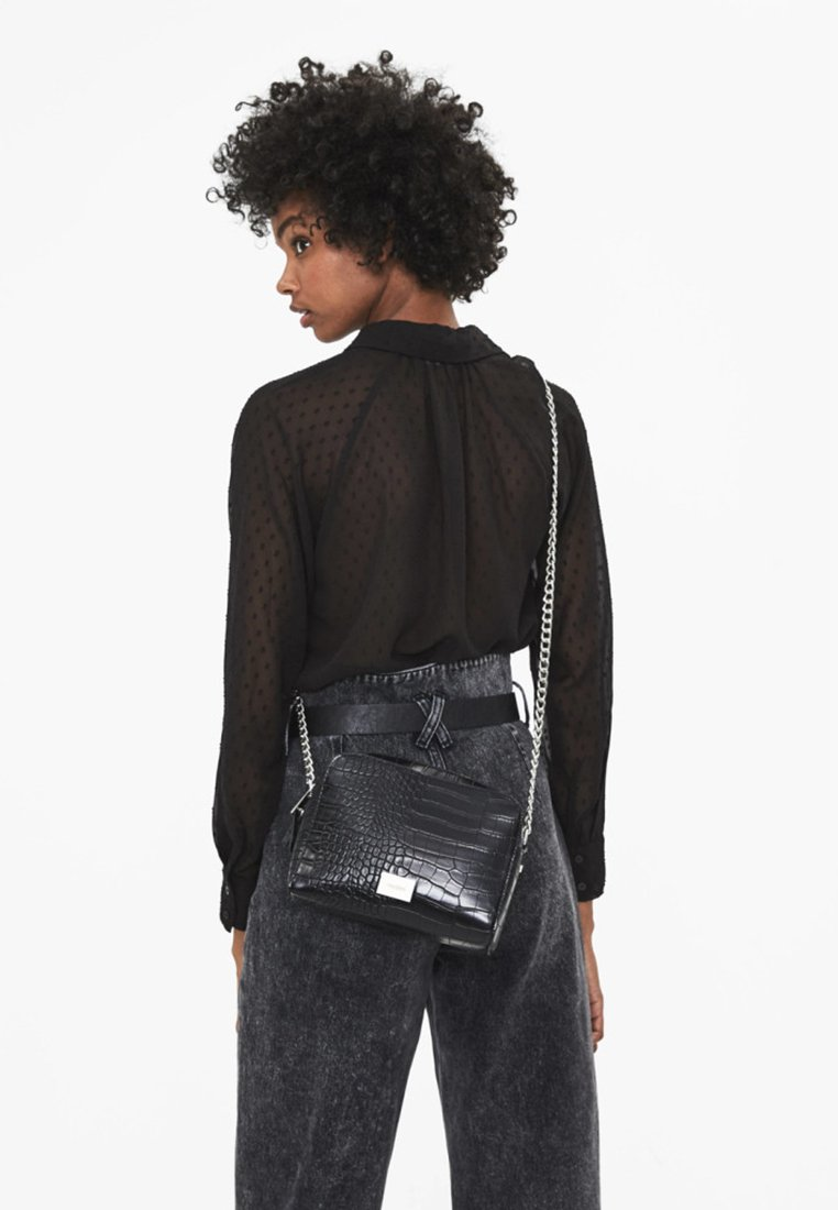 Bershka - Across body bag - black