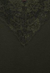 Rosemunde - Long sleeved top - black green - 2
