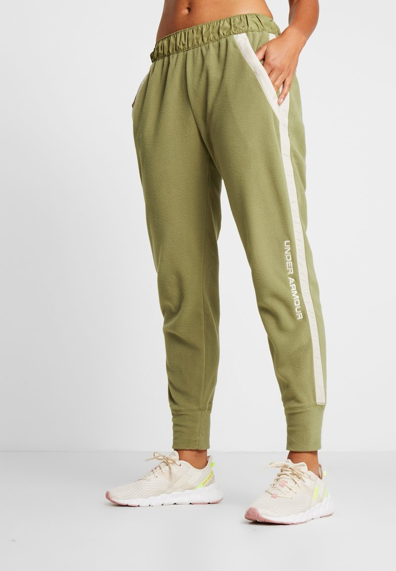 Under Armour - POLAR PANT - Friluftsbukser - outpost green/elite beige/beta red