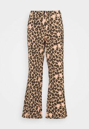 LEOPARD KICK FLARE TROUSERS - Trousers - multi