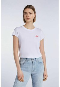 SET - MIT STATEMENT PRINT - Print T-shirt - bright white - 0