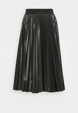 FLAVIANA - Pleated skirt - black
