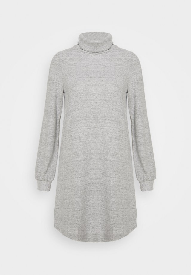 TURTLENECK DRESS - Jumper dress - light grey marle