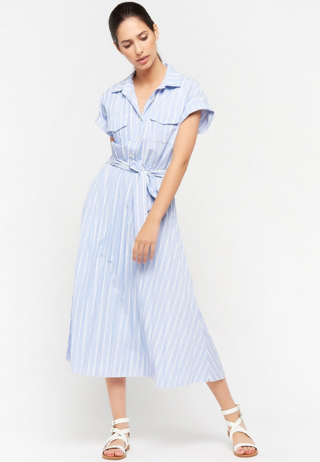 STRIPE - Shirt dress - light blue