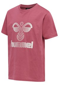Hummel - PROUD SET - Print T-shirt - rose wine - 5