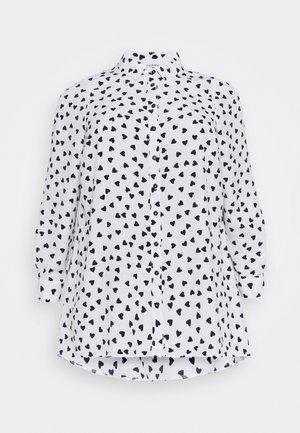 HEART PRINT SHIRT - Koszula - ivory