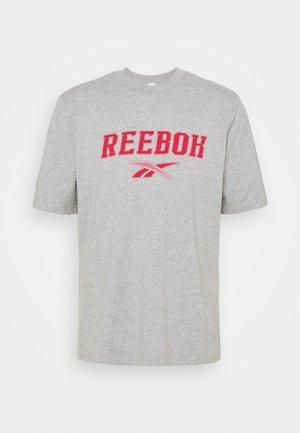 SOFT EDGE LINEAR TEE - T-shirt z nadrukiem - medium grey heather