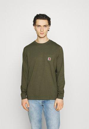 POCKET  - Long sleeved top - dollar green