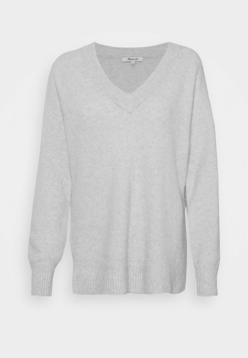 Madewell - JASON EX BOYFRIEND SWEATER - Jumper - heather smoke