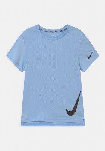 Print T-shirt - psychic blue