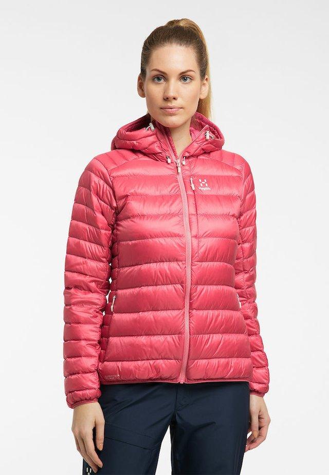 ROC DOWN HOOD - Down jacket - tulip pink
