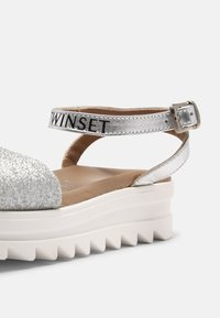 TWINSET - GLITTER - Sandals - argento - 4
