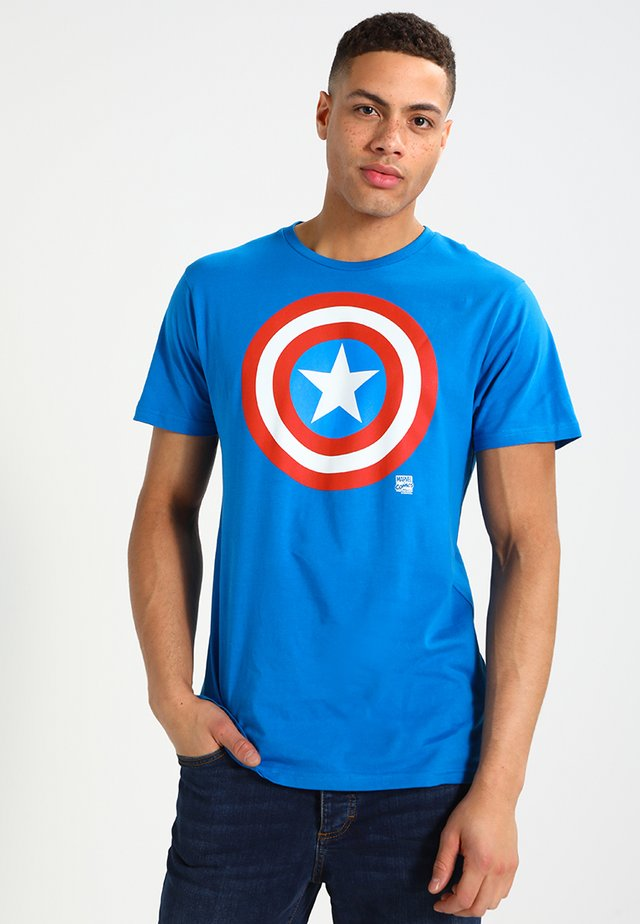 MARVEL - CAPTAIN AMERICA - SHIELD - T-shirt imprimé - blue