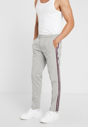 TEXTURED SIDE TROUSER - Tygbyxor - grey