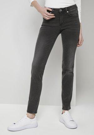 ALEXA - Slim fit jeans - used dark stone grey denim