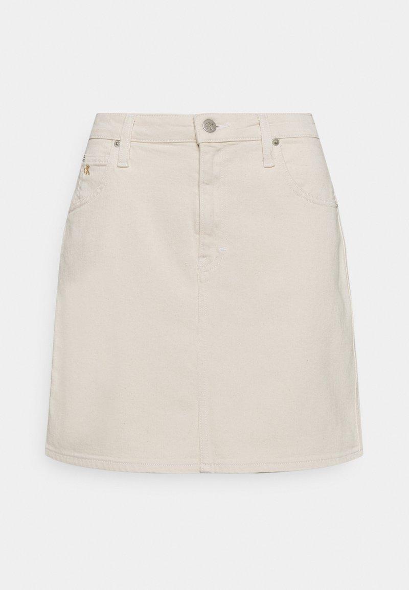 Calvin Klein Jeans - HIGH RISE MINI SKIRT - Mini skirt - denim light