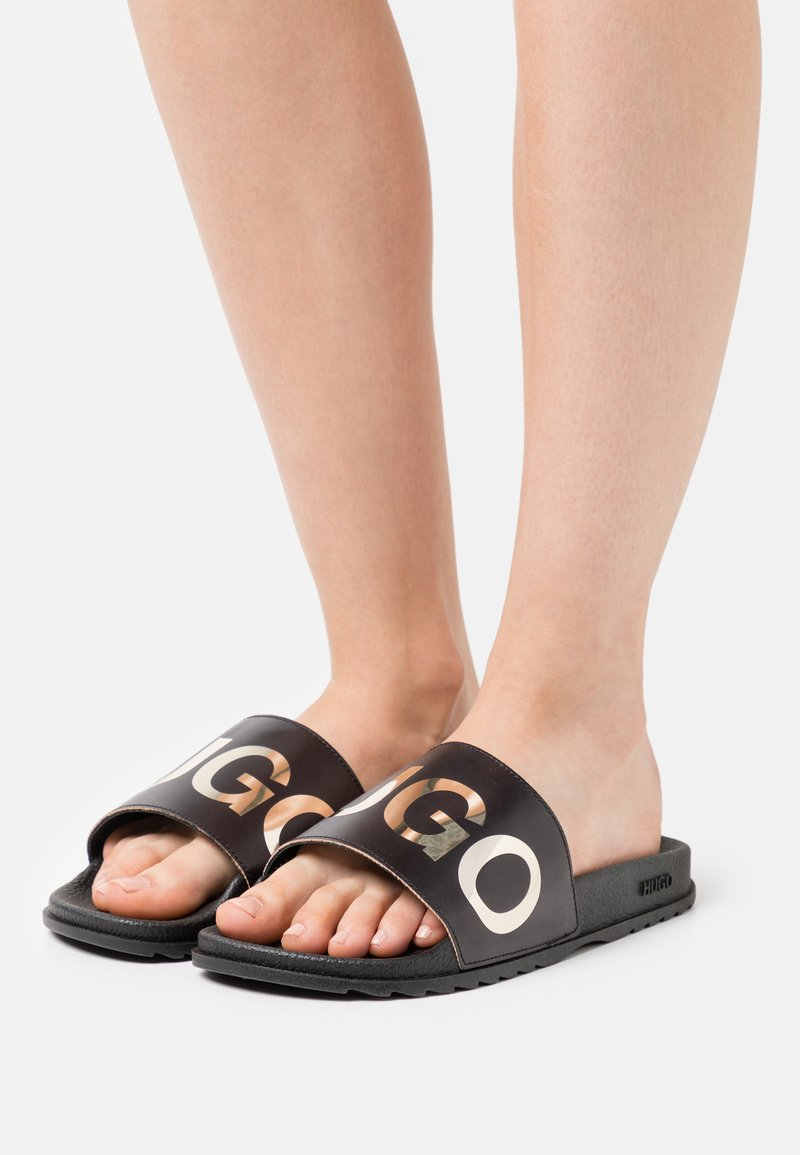 HUGO - TIME OUT - Mules - black