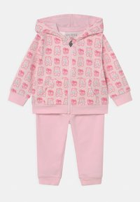 Guess - HODDED ACTIVE SET UNISEX - Tracksuit - pink - 0