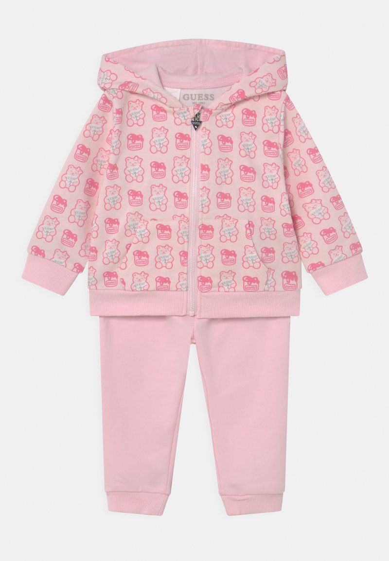 Guess - HODDED ACTIVE SET UNISEX - Tracksuit - pink