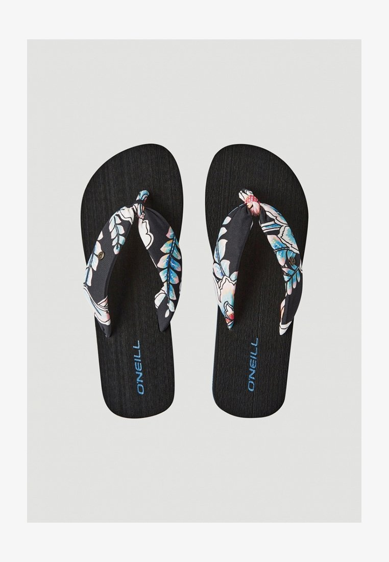 O'Neill - DITSY SUN - T-bar sandals - black with red