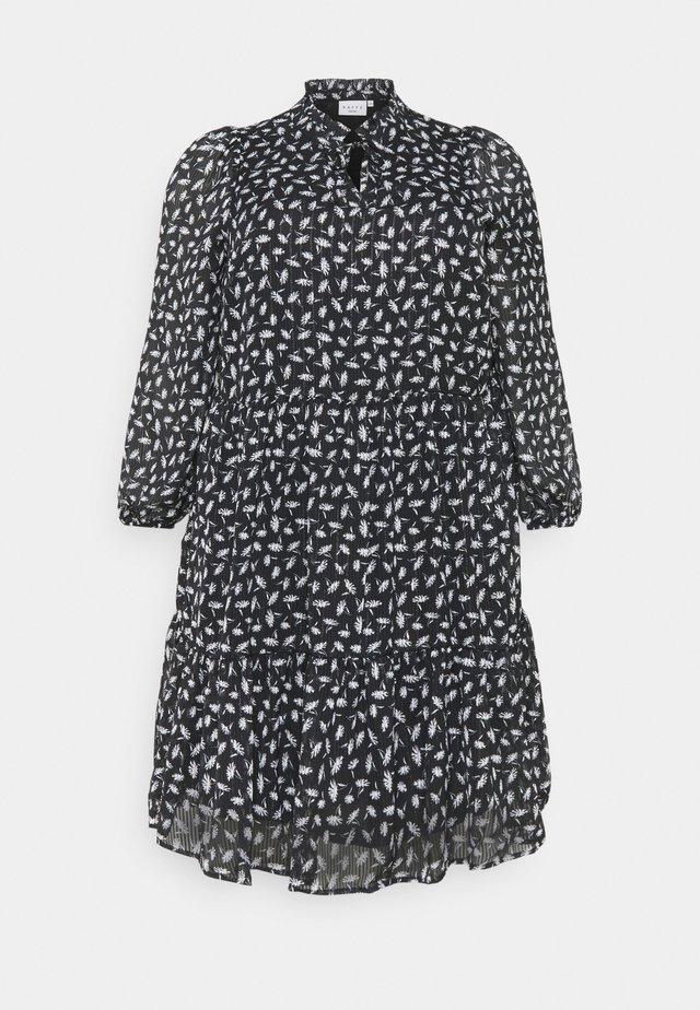 CAMINO DRESS - Sukienka letnia - black/chalk
