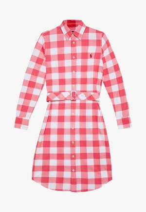 HEIDI LONG SLEEVE CASUAL DRESS - Skjortekjole - amalfi red/white