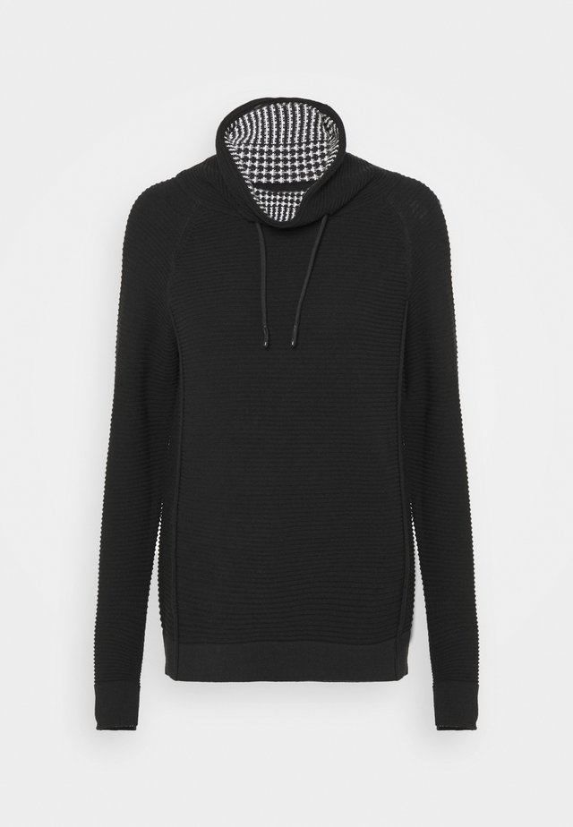 TUNNEL NECK - Pullover - black