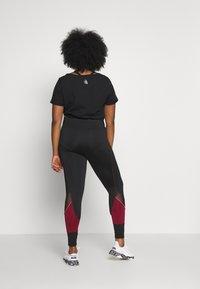 Active by Zizzi - AMONA - Leggings - black/biking red - 2