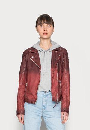 KANDY LAMOV - Leather jacket - ox red