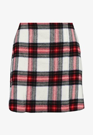 DOUBLE SLIT - Mini skirt - red