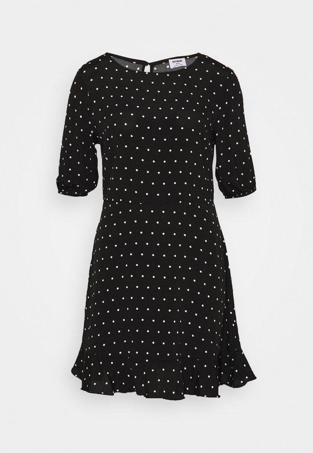 LUCIE SLEEVE MINI DRESS - Sukienka letnia - black