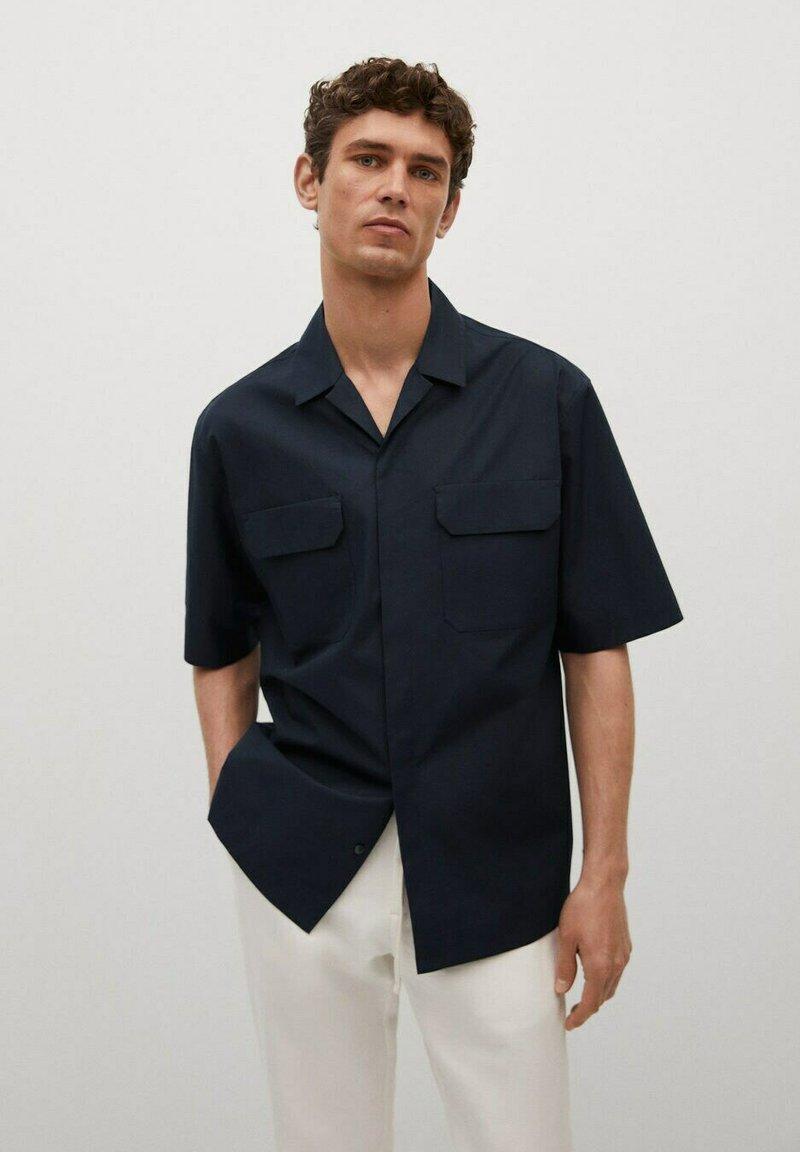 Mango - LORCA - Shirt - mørk marineblå