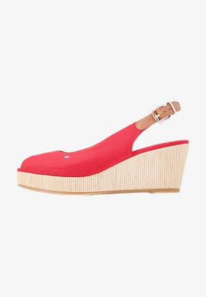 ELBA - Wedge sandals - primary red