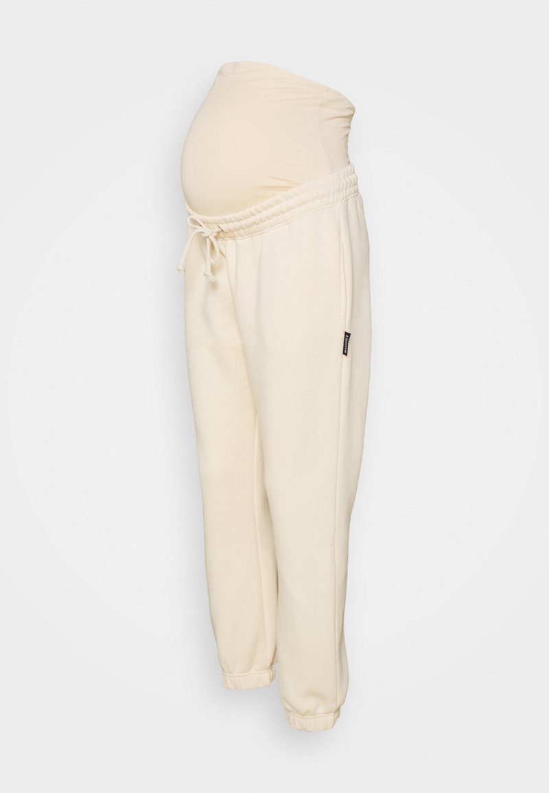 Missguided Maternity - 90'S JOGGER - Tracksuit bottoms - cream