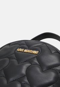 Love Moschino - HEART QUILTED BACKPACK - Plecak - nero - 5