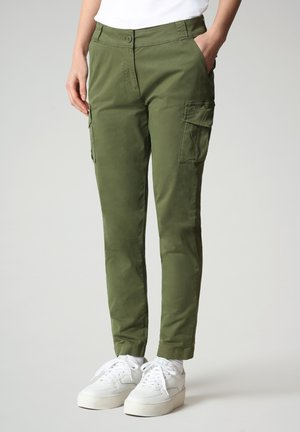 Cargo trousers - green cypress