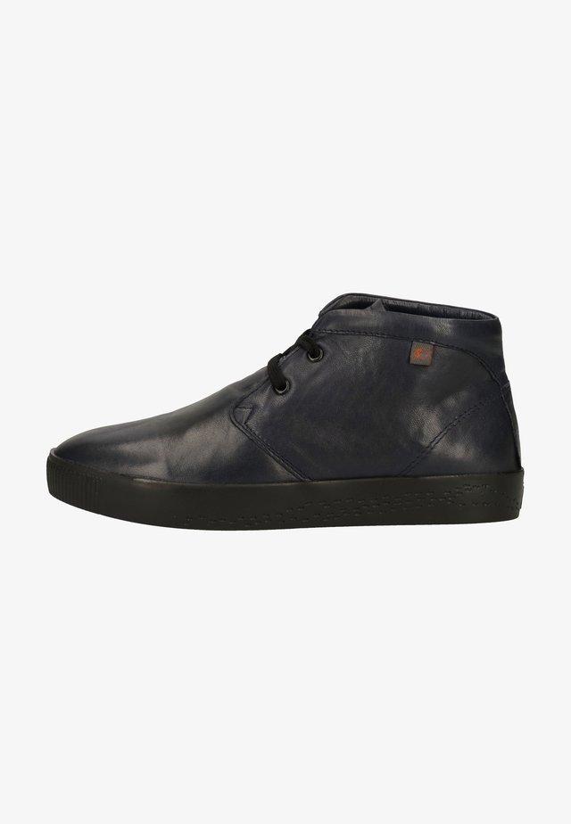 Platform ankle boots - navy