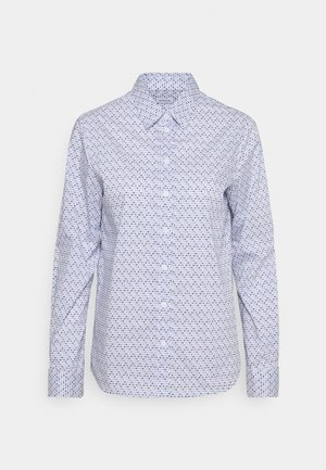 Button-down blouse - weiß/blau