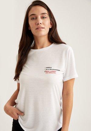 Print T-shirt - ecru