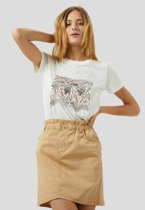 T-shirt con stampa - bianco lana