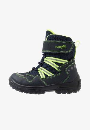SNOWCAT - Winter boots - blau/gelb