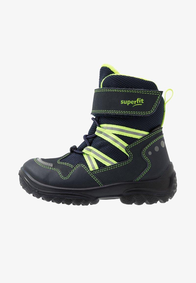 Superfit - SNOWCAT - Winter boots - blau/gelb
