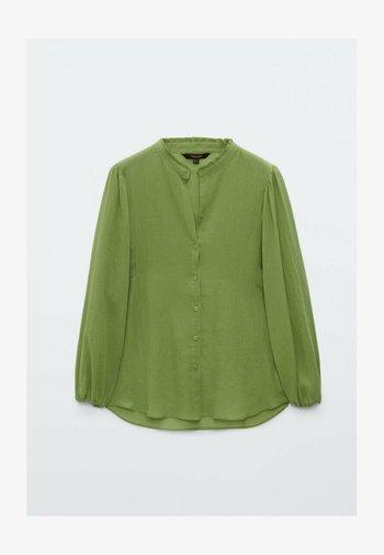 Button-down blouse - evergreen