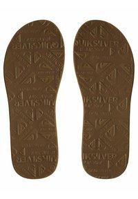 Quiksilver - Slippers - brown/black/brown - 2
