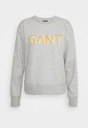 GRADIENT GRAPHIC C NECK - Sweatshirt - light grey melange
