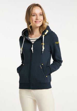 Zip-up sweatshirt - dunkel marine