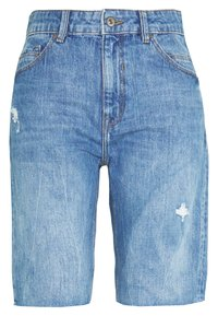 edc by Esprit - RELAXED BERM - Denim shorts - blue light wash - 0