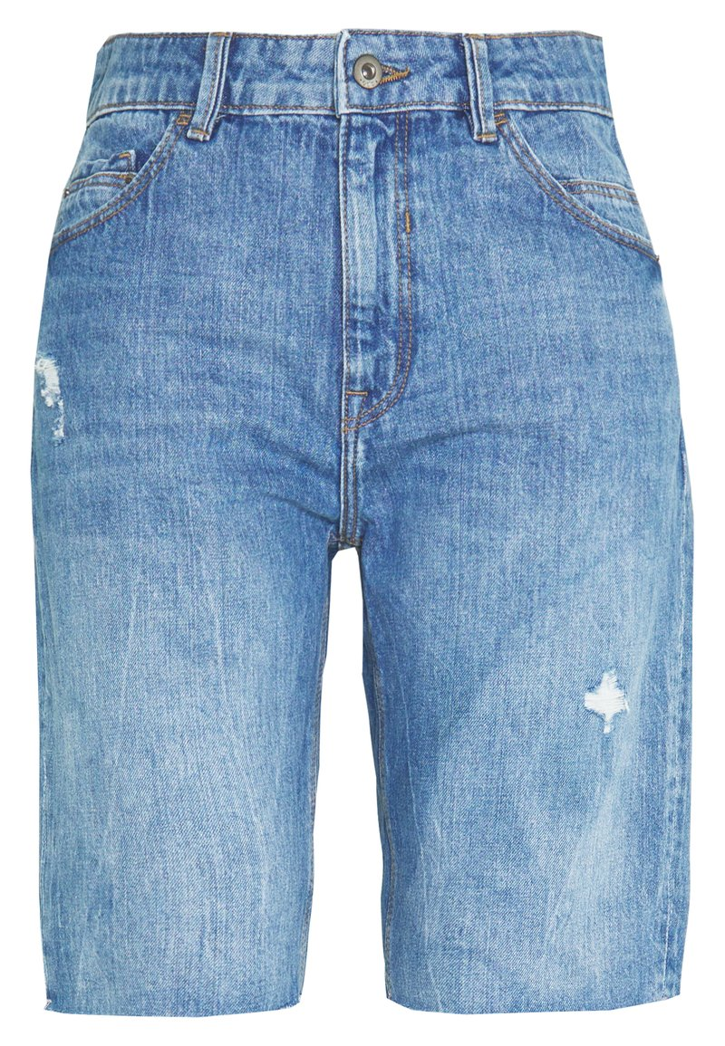 edc by Esprit - RELAXED BERM - Denim shorts - blue light wash